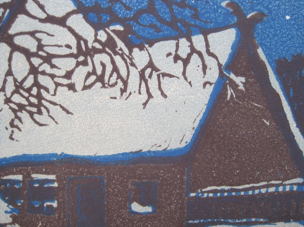 helene mass haus im winter jugenstil farbholzschnitt um. Black Bedroom Furniture Sets. Home Design Ideas